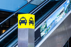 Taxi stand Royalty Free Stock Images