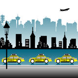 Taxi station Royalty Free Stock Photo