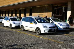Taxi Station In Italy Stock Photography