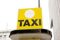 Taxi station sign Royalty Free Stock Images