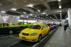Taxi at Suvarnabhumi Airport Bangkok Royalty Free Stock Photography