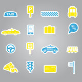 Taxi stickers set eps10 Stock Images