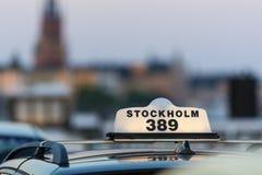 Taxi Stockholm Stockfotos