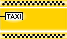 Taxi stop background Stock Photography