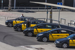 Taxi stop in Barcelona Stock Image