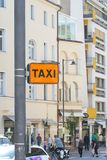 Taxi stop indicator Stock Photography