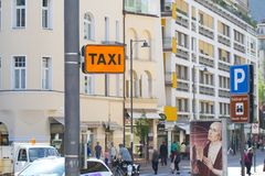 Taxi stop indicator Royalty Free Stock Images