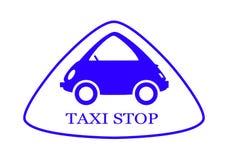 Taxi - Stoppschild - 8 stock abbildung