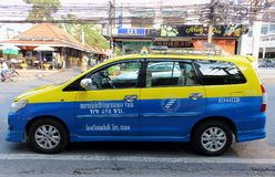 Taxi on the street Thailand stock photo