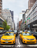 Taxi on the streets of Manhattan Royalty Free Stock Photo