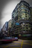 Taxi sulla strada di Nathan in Hong Kong Fotografia Stock