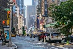 Taxi sur la rue de New York Image libre de droits