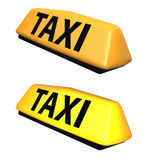 Taxi symbol 3d model. Isolated on white Stock Photography