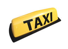 Taxi symbol 3d model. Taxi symbol isolated on white 3d model Royalty Free Stock Image