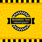 Taxi symbol with checkered background - 01 Stock Photography