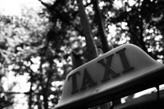 Taxi symbol. Stock Photos