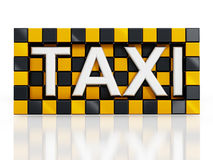 Taxi symbol Royalty Free Stock Photography