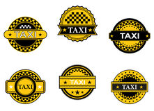 Taxi symbols and signs Stock Images