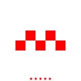 Taxi? symbool het pictogram is royalty-vrije illustratie
