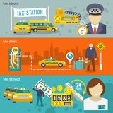Taxi sztandaru set Obrazy Stock
