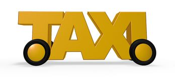 Taxi tag on wheels Royalty Free Stock Image
