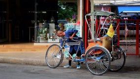 Taxi Tailandia della bicicletta Fotografie Stock Libere da Diritti