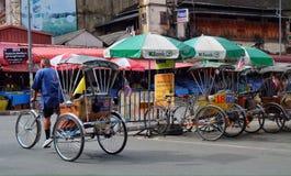 Taxi Tailandia della bicicletta Fotografie Stock