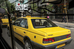 Taxi on the Tehran street Royalty Free Stock Photography
