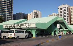 Taxi Terminal in Abu Dhabi Stock Image