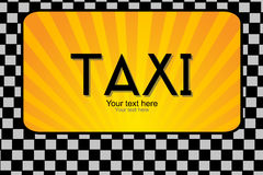 Taxi text Stock Images