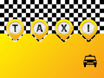 Taxi text in pointers Royalty Free Stock Image