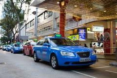 Taxi till fruktträdgårdvägen i Singapore Royaltyfri Bild