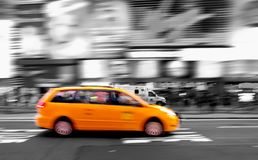 Taxi at times square Stock Photography