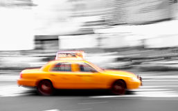 Taxi at times square Stock Photos