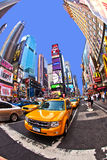 Taxi at times square Royalty Free Stock Image