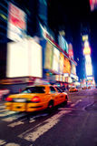 Taxi in Times Square Stock Photo