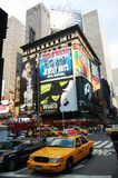 Taxi at Times Square in NYC stock photography