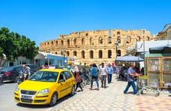 The taxi to arena Stock Photos
