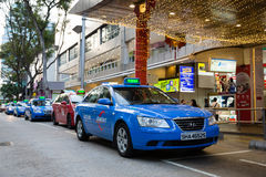 Taxi to Orchard Road in Singapore Royalty Free Stock Image