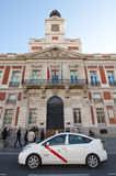 Taxi to the Puerta del Sol in Madrid Stock Images