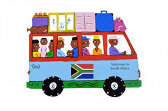 Taxi to South Africa. Stock Photography