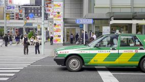 Taxi in Tokyo stock video