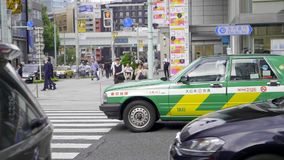 Taxi a Tokyo stock footage