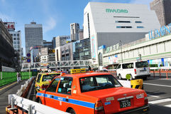 Taxi in Tokyo, Japan stock images