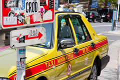 Taxi in tokyo Japan Stock Photography