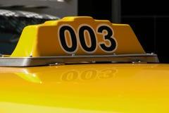 Taxi top. Close up of upper light on Taxi cab Stock Photos