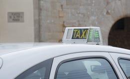 Taxi top old building in Majorca village Stock Photos