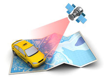 Taxi tracking Stock Images