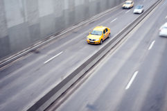 Taxi in traffic Stock Photo