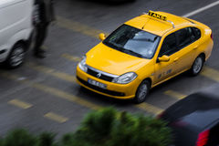 Taxi in the traffic Royalty Free Stock Photography